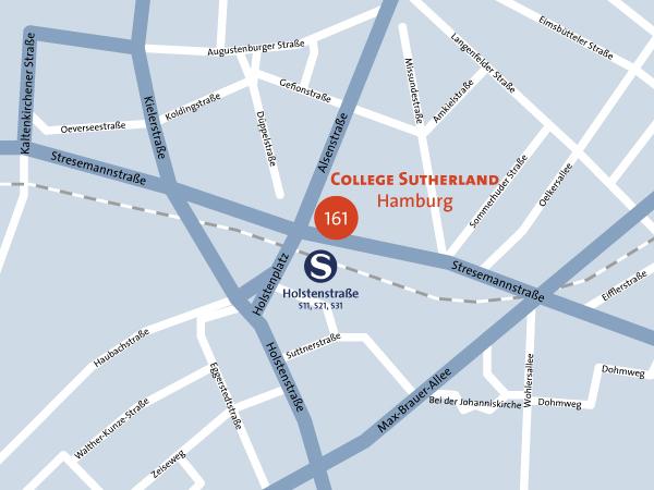 Lageplan College Sutherland Hamburg