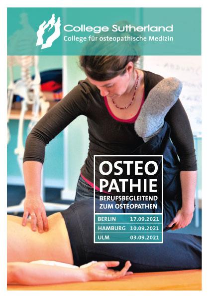 Cover / Osteopathie Ausbilung / College Sutherland Broschüre 2020 bis 2022